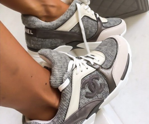 chanel, gray, and shoes image