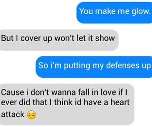 conversation, demi lovato, and heart attack image