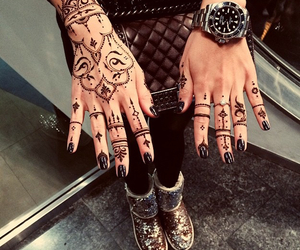 black, tattoo, and henna image