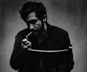 jake gyllenhaal, black and white, and actor image