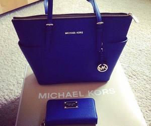 bag, Michael Kors, and blue image