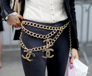 chanel, fashion, and belt image