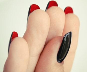 nails, black, and louboutin image
