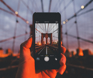 iphone, photo, and bridge image