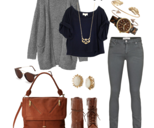 fashion, gray, and outfit image