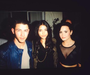 demi lovato, nick jonas, and madison beer image