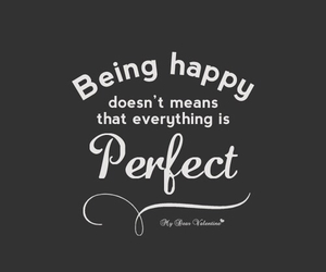quote, perfect, and happy image