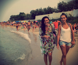 beach, italy, and pretty girls image