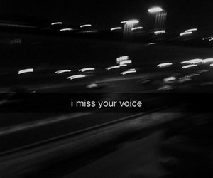 voice, miss, and sad image