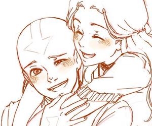 aang, katara, and avatar image