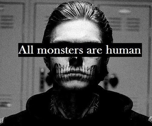 monster, human, and american horror story image