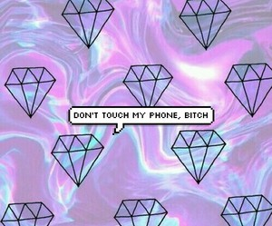 background, bubble, and diamonds image