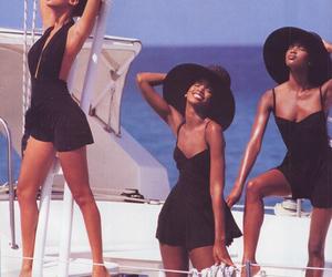 Naomi Campbell, tyra banks, and 90s image