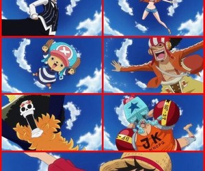 pirate, chopper, and one piece image