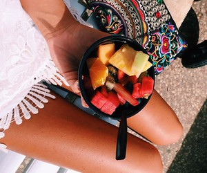 fruit, summer, and girl image