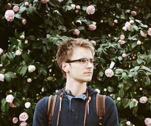 35mm, flowers, and glasses image