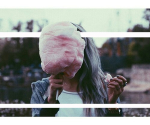 girl, cotton candy, and grunge image