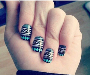nails, blue, and black image