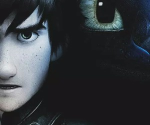 how to train your dragon, dragon, and hiccup image