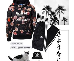 adidas, fashion, and blackclothes image