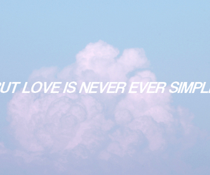love, quote, and clouds image