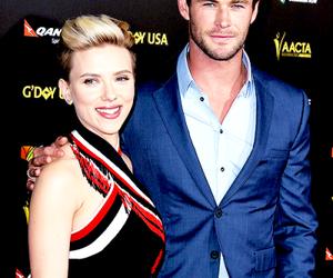 Scarlett Johansson and chris hemsworth image