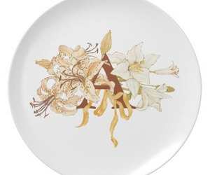 dishes, monogram, and plate image