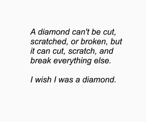 alone, broken, and diamond image