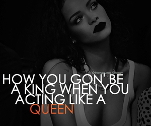 black and white, king, and Lyrics image