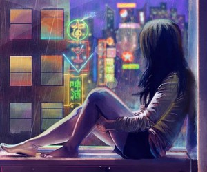 girl, art, and city image