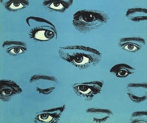 eyes, blue, and art image