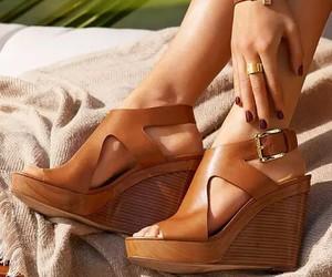 fashion, wedge, and heels image