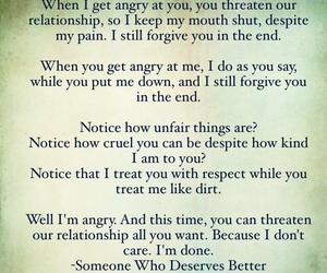 angry, relationships, and sad image