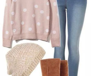 boots, outfit, and sweater image