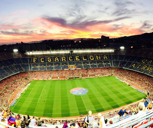 Barcelona, football, and sky image
