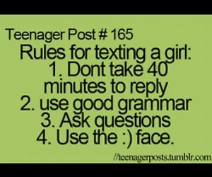 girl, texting, and teenager post image