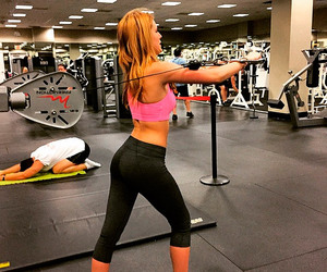 girls, gym, and sport image
