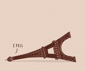 paris, funny, and eiffel tower image