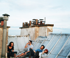 friends, boy, and roof image