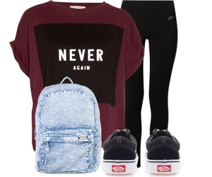 black jeans, vans, and never again image