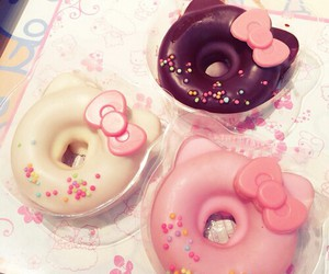 donuts, kawaii, and pink image