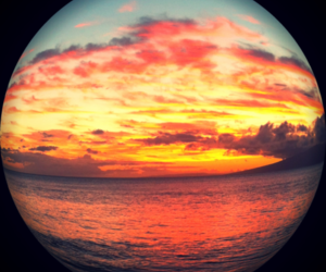 sunset, summer, and sky image