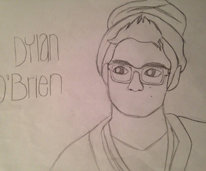black and white, dylan o'brien, and creation image