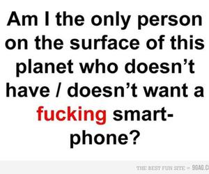 person, phone, and smart image
