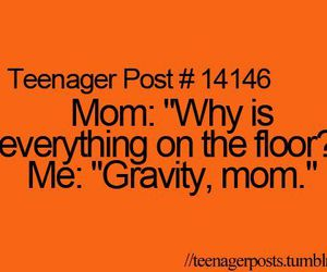 teenager post, funny, and gravity image