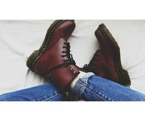 boots, jeans, and red image