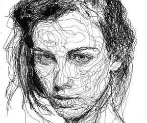 art, lines, and face image