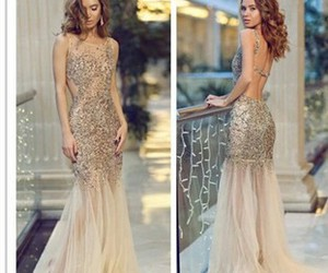 lady, long dress, and luxury image
