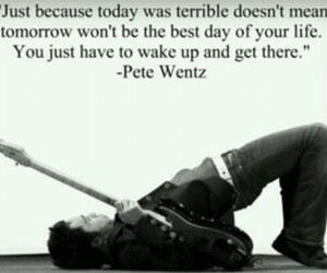 pete wentz, fall out boy, and quote image