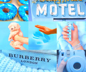 baby blue, blue, and bright image